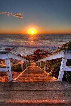 ~~Steps To The Sun | sunset, Pacific Ocean, La Jolla, California by Peter Tellone~~