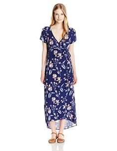 Billabong Women's Wrap Me up Midi Length Woven Wrap Dress - http://www.darrenblogs.com/2017/02/billabong-womens-wrap-me-up-midi-length-woven-wrap-dress/