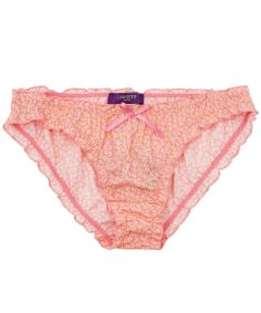 Pink Speckle print frill knickers from the Liberty London Collections. #CrackingLibertyChristmas
