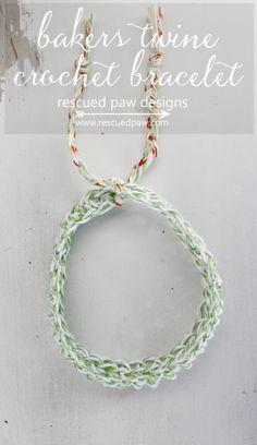 Bakers Twine #Crochet Bracelet Pattern free from Rescued Paw