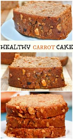 Healthy Carrot Cake A healthy twist on the classic carrot cake from my mum's kitchen to yours Moist, light and SO delicious You won't believe it's healthy too! glutenfree, vegan + high protein o is part of Healthy carrot cakes - Healthy Carrot Cakes, Healthy Baking, Healthy Desserts, Just Desserts, Carrot Bread Recipe Healthy, Carrot Cake Bread, Healthy Recipes, Healthy Cookies, Banana Bread