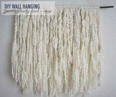 Wall hanging from yarn: Ashland Bay's thick and thin