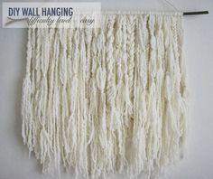 Wall hanging from yarn: Ashland Bay's thick and thin