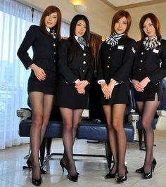 Ladyboy airline Hostesses