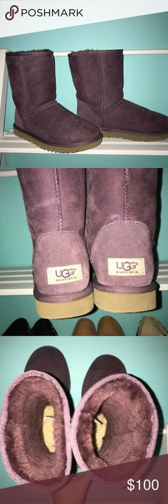 UGG boots GREAT condition These were only worn a few times and have no damage.  Super cute purple color!  Always open to reasonable offers and discounts on bundles ☺️ UGG Shoes Ankle Boots & Booties