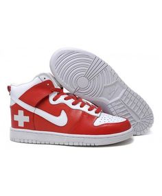 on sale 1fc28 cce74 Nike Dunk SB Shoes High Women Red Cross Nike Dunks, Nike Sb, Red Cross