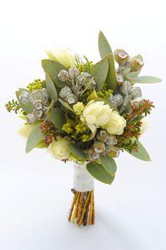 Gorgeous native bouquet in subdued tones. Flower Bouquet Wedding, Floral Wedding, Wedding Themes, Wedding Styles, Wedding Ideas, Bush Wedding, Casket Sprays, Nature Plants, Flower Fashion