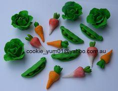 16 edible 3D VEGETABLES PETER Rabbit theme harvest farm garden cake cupcake wedding topper decoration party wedding birthday engagement