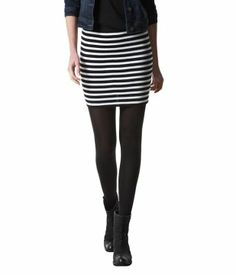 Striped mini skirt - Promod