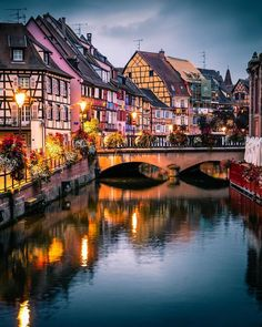 In Colmar, Alsace, France. Beautiful Places To Travel, Wonderful Places, The Places Youll Go, Cool Places To Visit, Petite France, Hello France, Beaux Villages, Photos Voyages, Travel Aesthetic