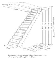 Tischlerei Treppen und Geländer, Einläufig gerade Treppe mit vollen Stufen und Setzstufen, Holzart Fichte, 75 cm breit Loft Stairs, House Stairs, Modern Staircase, Staircase Design, Stairs Handle, Stairs To Heaven, Stair Plan, Attic Bedroom Designs, Aluminium Windows And Doors