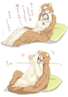 kigurumi couple OH MY OH MY. I THINK ITS SHIZUO AND IZAYA!!!! *the fangirl feels strike my heart*