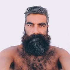 Bad Beards, Long Beards, Beard No Mustache, Beard Styles For Men, Hair And Beard Styles, Hairy Men, Bearded Men, Beard Images, Beauty