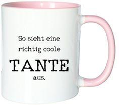 Mister Merchandise Kaffeetasse Becher So sieht eine richtig coole Tante aus Aunt, Farbe: Weiß-Rosa - http://geschirrkaufen.online/mister-merchandise/mister-merchandise-kaffeetasse-becher-so-sieht-46