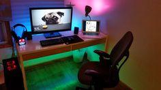 LED-Filled Dorm Room Battlestation