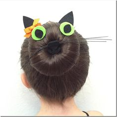 Cat bun - this is so adorable!! I love this for Halloween or even crazy hair day