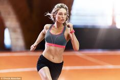 Priority: With the Olympics coming up and summer underway, there is plenty of motivation to exercise but it experts claim it is crucial to wear a supportive sports bra that fits, pictured