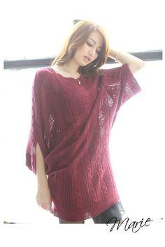 iAnyWear Burgundy Knit Top