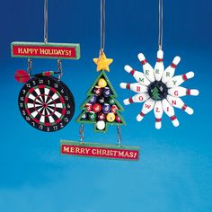 $10 - Kurt Adler Dart Board, Bowling or Billiards Ornaments #W1737 - House of Holiday