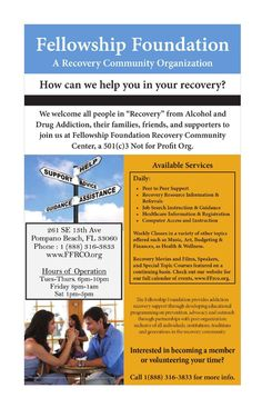 Fellowship Living - Get To know Rick & Susan Riccardi by calling (954) 249-5589