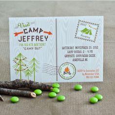 Anders Ruff Custom Designs, LLC: A Backyard Camping Birthday Party!