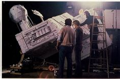 Filming Star destroyer for ESB