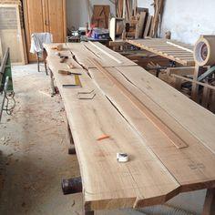 Massive Eiche handgefertigt live smaragdcabochon Holz Esstisch | Etsy