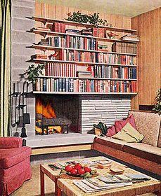 Mimo fireplace + bookshelves