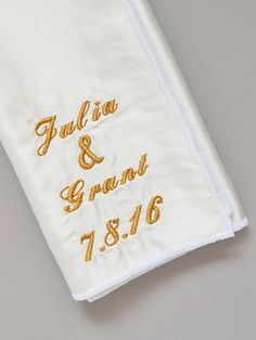 O'Harrow's Custom Embroidery on Silk Pocket Square