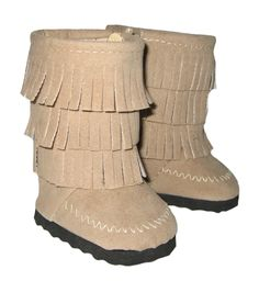 Silly Monkey - Tan Fringe Boots, $7.99 (http://www.silly-monkey.com/products/tan-fringe-boots.html)