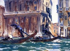 On the Canal - John Singer Sargent