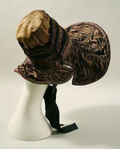 Bonnet  Date: ca. 1830 Culture: American Medium: silk, metal wire, buckram