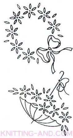 Large floral spray embroidery designs