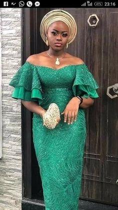nigerian dress styles Asoebi Styles for wedding:check out 25 stunning and beautiful Asoebi styles for wedding African Fashion Skirts, African Dresses For Women, African Print Fashion, African Print Dresses, African Women, Nigerian Lace Dress, Nigerian Dress Styles, Nigerian Clothing, African Wedding Attire