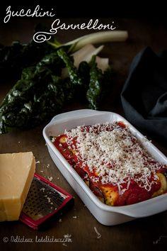 Vegetarian Zucchini Cannelloni - a delicious pasta free alternative to the Italian classic