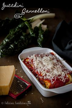 Vegetarian Zucchini Cannelloni - a delicious pasta free update to the Italian Classic #vegetarian | via ledelicieux.com