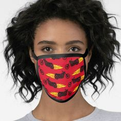 Motorcycle Red Flaming Masculine Men's Face Mask   snowmobile quotes girl, bikers style, biker logo #motorbike #bikersofinstagram #bikersoul, 4th of july party