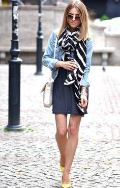 striped scarf $40