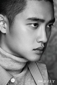 WaitForSoo Week 10 of 82 // Black & White → Colour // Kyungsoo for High Cut Korea (+logo removal) Kyungsoo, Chanyeol, Kim Jongin, Kaisoo, Marie Claire, High Cut Korea, D O Exo, Spirit Fanfic, Exo Group
