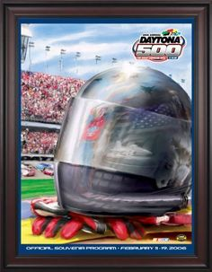 """NASCAR Framed 36"""" x 48"""" Daytona 500 Program Print Race Year: 48th Annual - 2006 by Mounted Memories. $363.99. NC14482006 Race Year: 48th Annual - 2006 Features: -Original cover art from that day's race program. -Vibrant colors restored, alive and well. -Classic brown finished wood frame, unmatted. -Officially licensed by NASCAR. -36"""" W; x 48"""" H; canvas print. -Overall dimensions 52 1/4 H"""" x 40"""" W. -Made in the USA."""