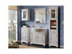 Úchvatná kúpeľňová zostava v klasickom duchu v elegantnom bielom prevedení.