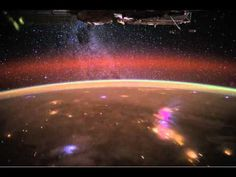 NASA has released a stunning video taken from the International Space Station that shows the Milky Way and lightning storms over Africa.