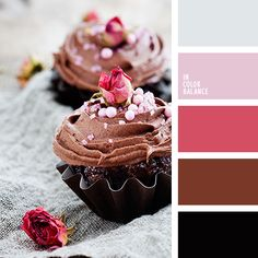 Цветовая палитра №1268 Tummy cupcakes color palette with rich pinks and browns