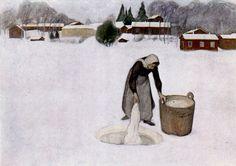 Kuva albumissa PEKKA HALONEN - Google Kuvat. Avannolla 1900.  Ateneum, Helsinki.  VÄRISUOMI EM 57154.
