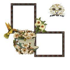 Scrapbooking TammyTags -- TT - Designer - Miriam's Scrap,  TT - Item - Frame, TT - Style - Cluster, TT - Thing - Bird