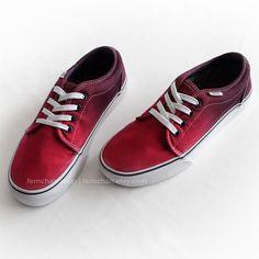 98ba801bdd07b7 Red ombré  Vans chukka low