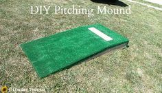 Building A Portable Pitching Mound Sports Pinterest