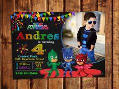 VENTA 40% de descuento - Pj máscaras invitaciones personalizadas, invitación Digital, invitación de máscaras de PJ, Pj máscaras fiesta de cumpleaños, invitación para imprimir