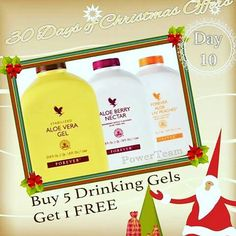 DAY 10 OF THE 30 DAYS OF CHRISTMAS OFFERS  10th November  Are you drinking Aloe Vera yet?  If you already understand the cocktail nutrients aloe provides, you will love today's deal as part of the 30 days of Christmas!  #giftyourself #30daysofxmas #ad #cocktailofnutrients
