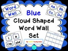 Are you a dual language teacher looking for the perfect English high frequency word wall or an educator looking to incorporate the color blue in to their classroom?  If so, this is the packet for you!  Here is a common core aligned blue cloud shaped word wall set with a letter card for each letter in the alphabet and 200 high frequency words.
